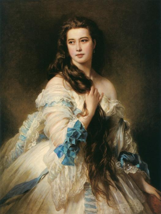 Ф.К. Винтерхальтер. Портрет В.Д. Римской-Корсаковой (1864)